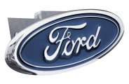AutoGold� - Chrome Hitch Cover with Ford Logo