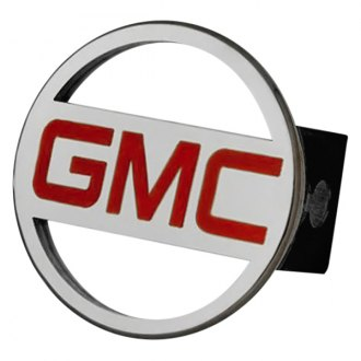 Autogold® - Chrome Hitch Cover with GMC Red Logo