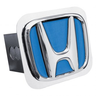 Autogold® - Chrome Hitch Cover with Honda Logo with Blue Fill