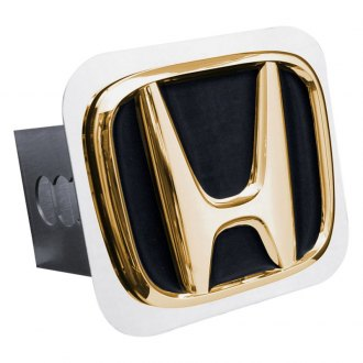 Autogold® - Gold Hitch Cover with Honda Black Fill Logo