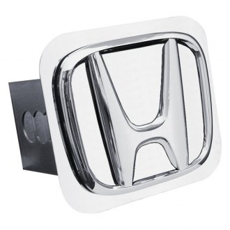 Autogold® - Chrome Hitch Cover with Honda No Fill Logo