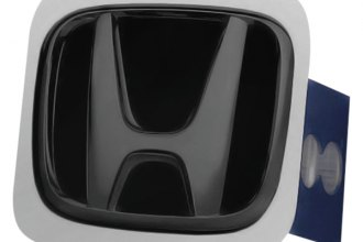 Autogold® - Black Pearl Hitch Cover with Honda Logo