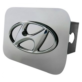 "Autogold® - Chrome Hitch Cover with Hyundai Logo for 2"" Receivers"
