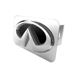 Autogold® - Black and Chrome Hitch Cover with Infiniti Logo
