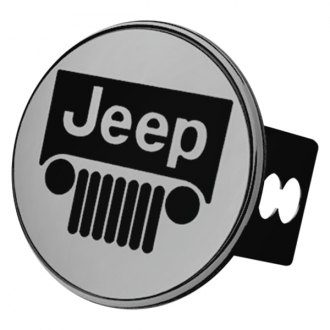 Autogold® - Chrome Hitch Cover with Jeep Logo