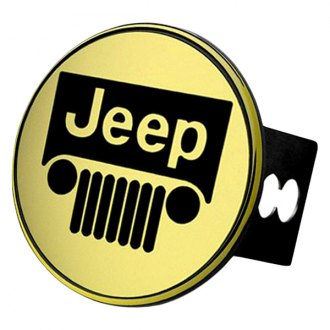 Autogold® - Gold Hitch Cover with Jeep Logo