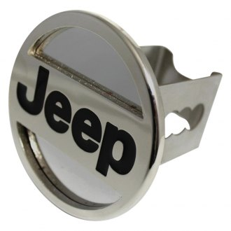 "Autogold® - Chrome Hitch Cover with Jeep Name Logo for 2"" Receivers"