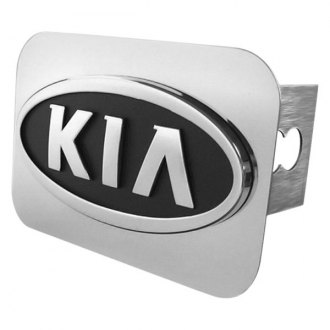 Autogold® - Chrome Hitch Cover with Kia Logo