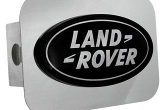 Autogold® - Black Hitch Plug with Land Rover Logo