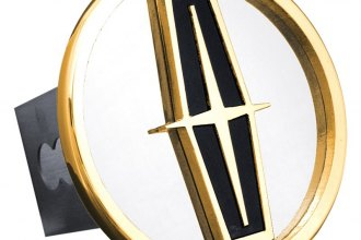 Autogold® - Gold Hitch Cover with Black Lincoln Logo