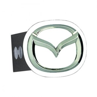 Autogold® - Chrome Hitch Cover with Mazda Logo