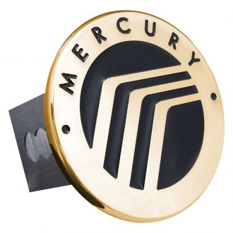 Autogold® - Gold Hitch Cover with Mercury Logo
