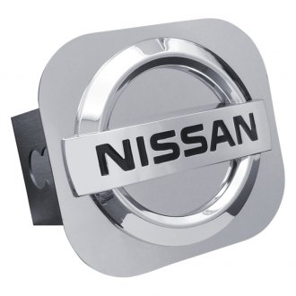 Autogold® - Chrome Hitch Cover with Nissan Logo