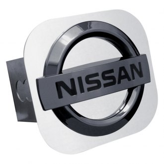 Autogold® - Black Pearl Hitch Cover with Nissan Logo