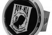Autogold® - Chrome Hitch Cover with POW/MIA Logo
