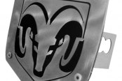 AutoGold® - Laser Cut Brushed Stainless Hitch Cover with Ram Logo