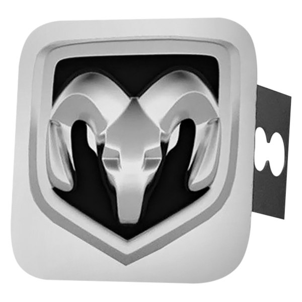 Autogold® - Chrome Hitch Cover with Ram OEM Logo