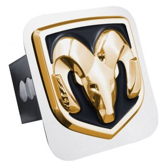Autogold® - Gold Hitch Cover with Ram OEM Logo