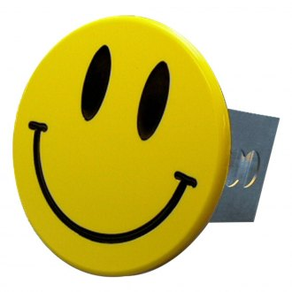 Autogold® - Yellow Hitch Cover with Smiley Face Logo