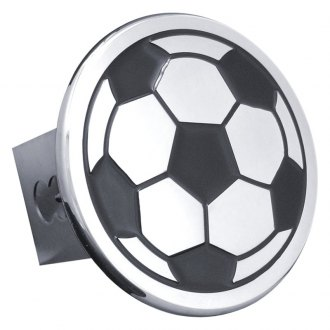 Autogold® - Chrome Hitch Cover with Soccer Ball Logo