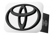 Autogold® - Black Hitch Cover with Toyota Logo