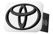 AutoGold� - Black Hitch Cover with Toyota Logo