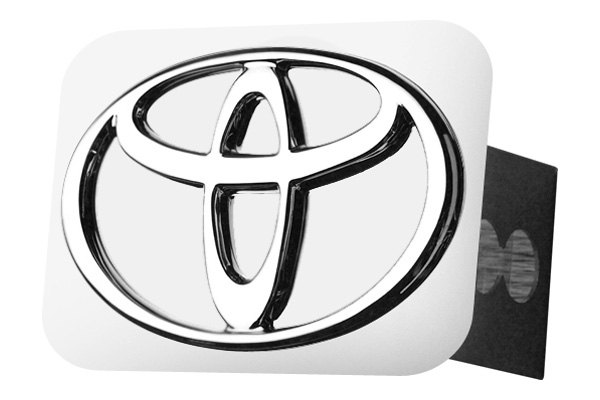 Autogold® - Chrome Hitch Cover with Toyota Logo