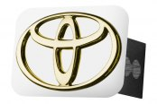 Autogold® - Gold Hitch Cover with Toyota Logo