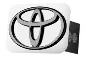 Autogold® - Black Pearl Hitch Cover with Toyota Logo