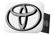 AutoGold� - Black Pearl Hitch Cover with Toyota Logo