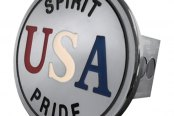 Autogold® - Chrome Hitch Cover with USA Logo