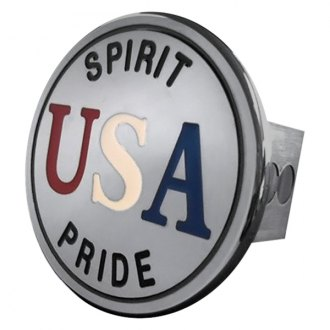 "Autogold® - Chrome Hitch Cover with USA Logo for 2"" Receivers"