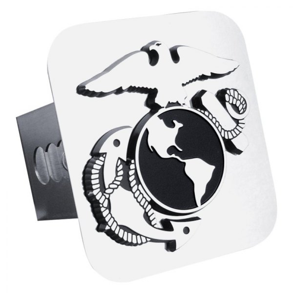 Autogold® - Chrome Hitch Cover with US Marine Corps Insignia Logo