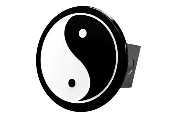Autogold® - Chrome Hitch Cover with Yin Yang Logo