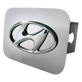 Autogold® - Chrome Hitch Cover with Hyundai Class II Logo