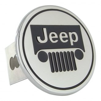 Autogold® - Chrome Hitch Cover with Jeep Class II Logo