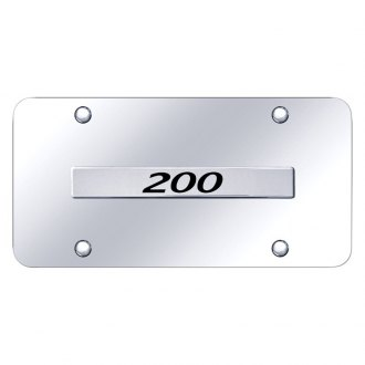 Autogold® - Chrome License Plate with Chrome 200 Logo