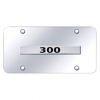 Autogold® - Chrome License Plate with 300 Logo