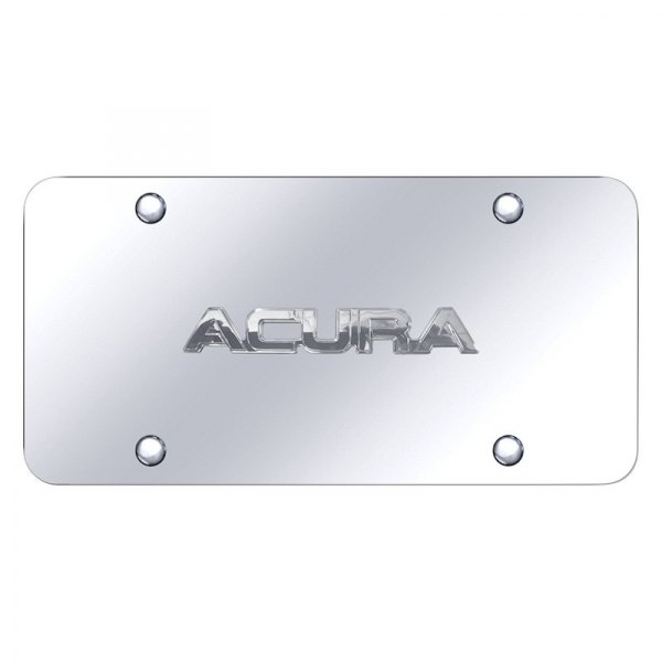 Autogold® - License Plate with 3D Acura Logo