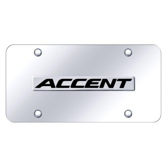 Autogold® - Chrome License Plate with 3D Chrome Accent Logo