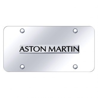 Autogold® - Chrome License Plate with 3D Chrome Aston Martin Logo