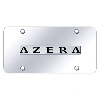 Autogold® - Chrome License Plate with Chrome Azera Logo