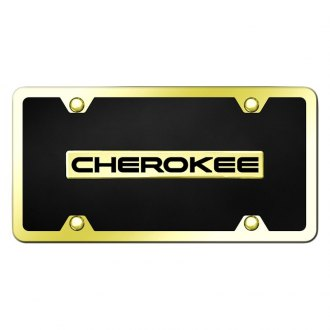 Autogold® - License Plate with Cherokee Logo