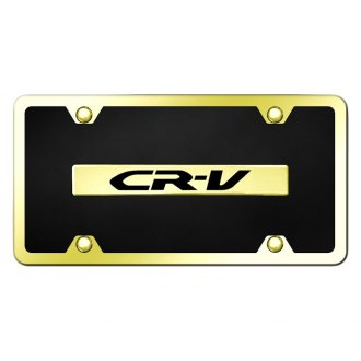 Autogold® - Black License Plate with Engraved Gold CR-V Logo