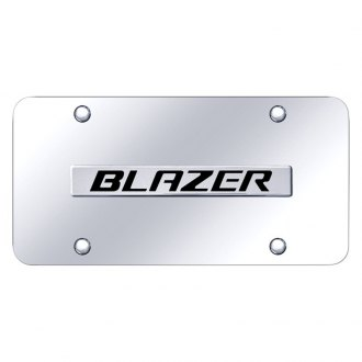 Autogold® - Chrome License Plate with Blazer Logo