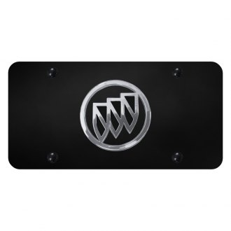 Autogold® - Black License Plate with Chrome / Black Buick Emblem