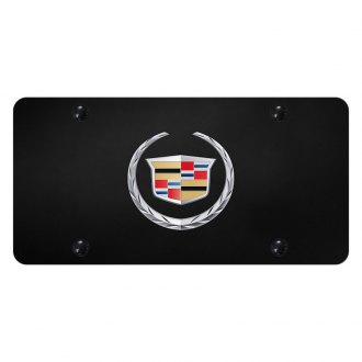 Autogold® - License Plate with 3D Cadillac New Emblem