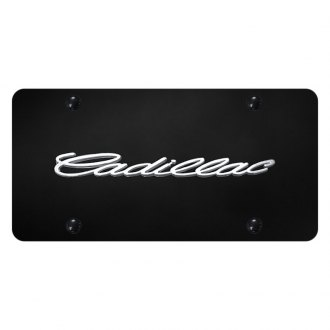Autogold® - License Plate with 3D Cadillac Logo