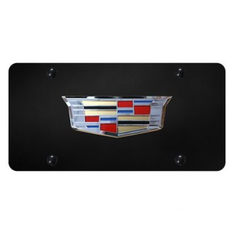 Autogold® - License Plate with 3D Chrome Cadillac Old Emblem