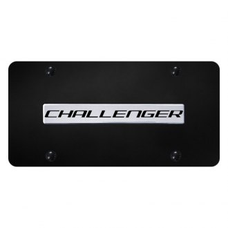 Autogold® - License Plate with Chrome Challenger Logo